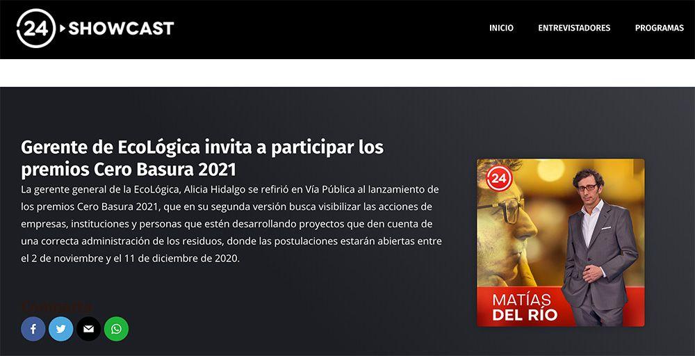 Gerente de EcoLógica invita a participar los premios Cero Basura 2021